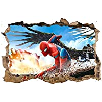 Spiderman 3D Pegatinas Spiderman Pegatinas Decorativas Pared Spiderman