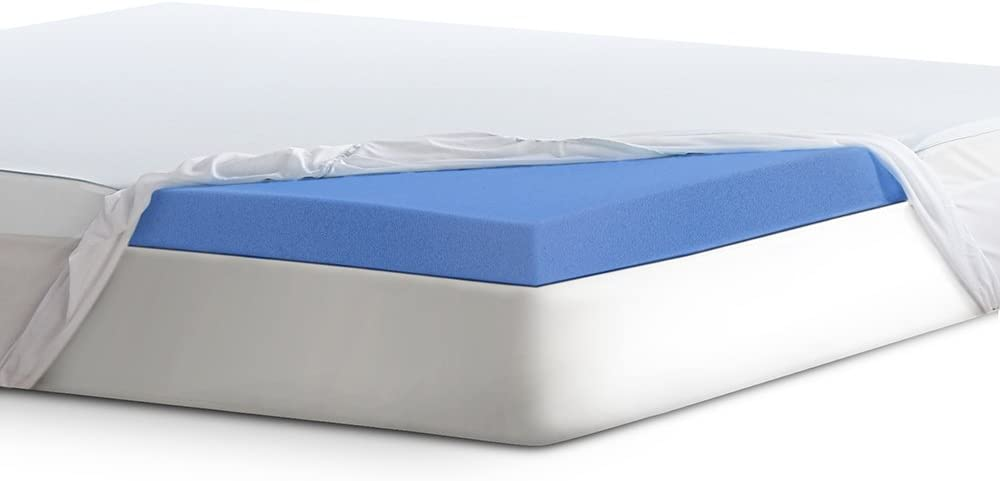 "Serta 3"" Lasting Dream Plus Gel-Infused Memory Foam Mattress Topper, King"