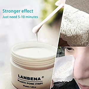 LANBENA Blackhead Remover Black Mask Purifying Peel Off Mask Facial Pore Cleanser 30g(1.05 ounce)