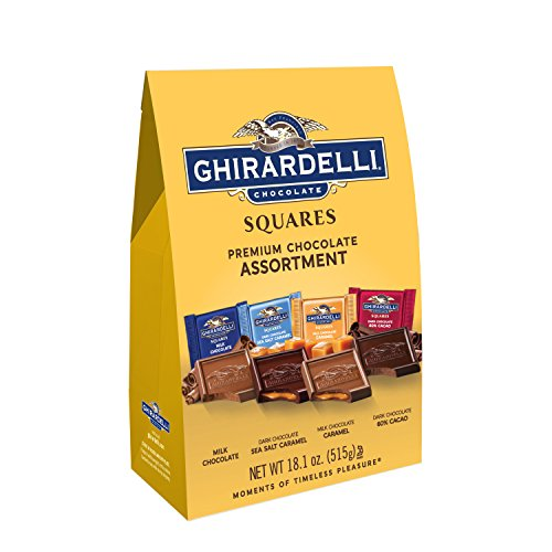 Ghirardelli Squares Premium Chocolate Assortment, 18.1 oz (Chocolate Ghirardelli Squares)