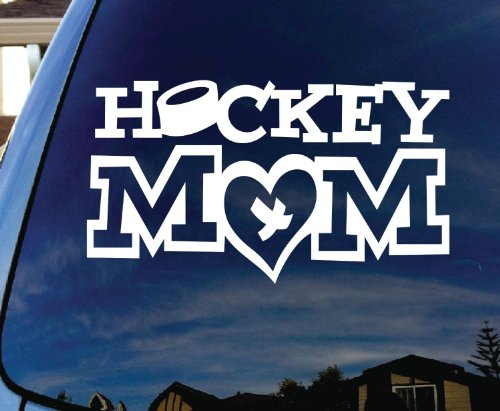 CMI267 Hockey White Vinyl Sticker product image