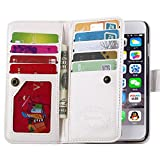 iPhone 6 Plus Case,Joopapa Luxury Fashion Pu Leather Magnet Wallet Credit Card Holder Flip Case Cover with Built-in 9 Card Slots for iPhone 6 Plus 5.5