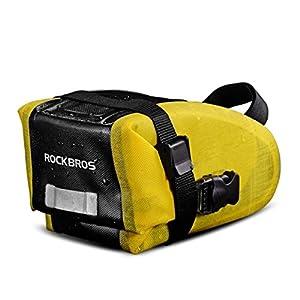 RockBros Waterproof Bicycle Saddle Bag Mountain Bike Cycling Seat Pack for Road Folding Bike Black