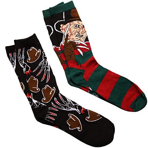 Nightmare on Elm Street Freddy/Hat & Gloves 2-pack Adult Crew Socks