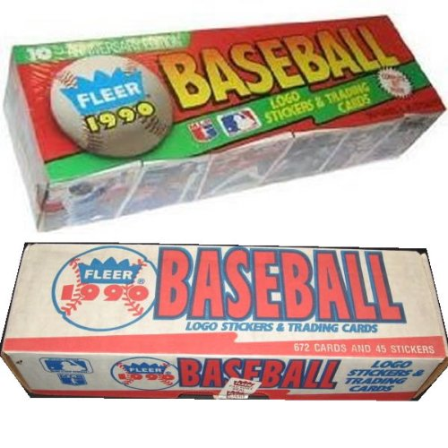 1990 Fleer Baseball Cards Complete Factory Set of 660 Cards + 45 Stickers - Includes Rookie Card of Sammy Sosa, Juan Gonzalez, Larry Walker, David Justice, and Moises Alou, Plus Dozens of Cards of Hall of Famers and MLB Superstars