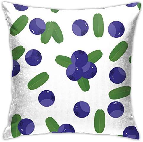 ブルーベリーシームレスパターン小説と興味深い家の装飾的な枕カバークッションカバーソファカバー