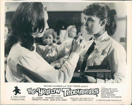 THE YELLOW TEDDYBEARS GUTTER GIRLS LOBBY CARD JILL ADAMS GEORGINA PATTERSON