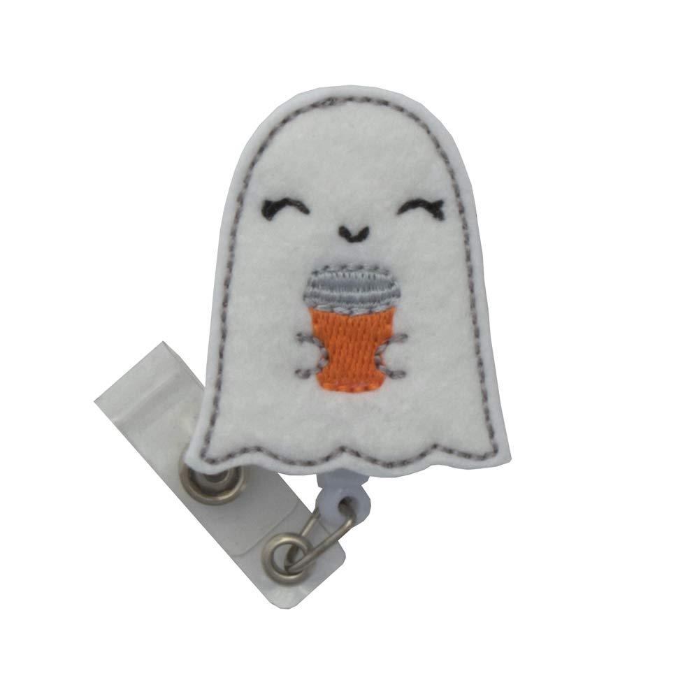 Work ID badge holder Badge Reel Tall Coffee CNA Name Badge