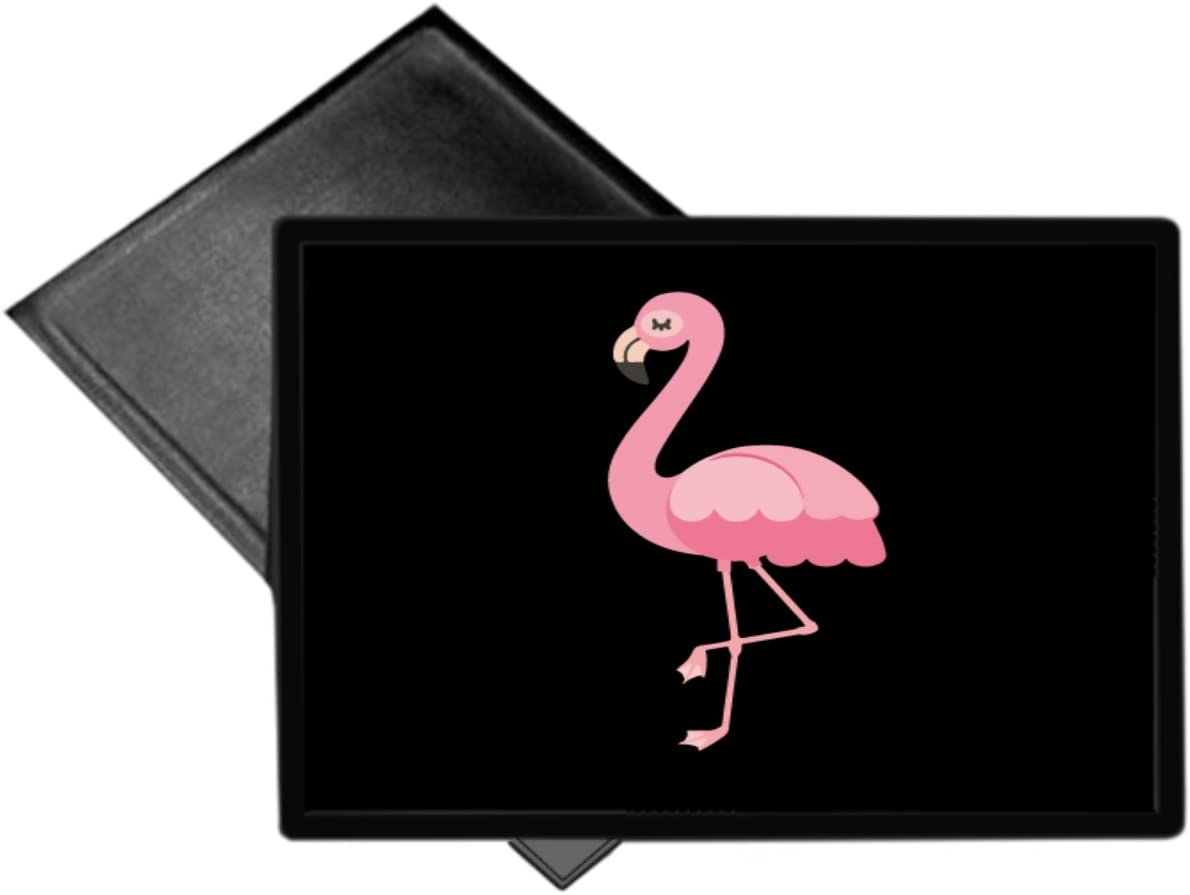 Flamingo Pretty Bird Pink Black Background Welcome Mat 18×24 Outdoor Doormat Rug by Moonlight4225