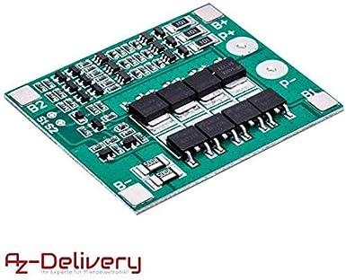 AZDelivery Tarjeta de protección PCB para 3 baterías de litio ...