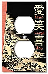 Art Plates - Love, Laugh, Joy Switch Plate - Outlet Cover