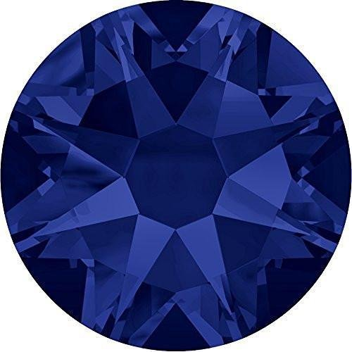 2000, 2058 & 2088 Swarovski Flatback Crystals Non Hotfix Dark Indigo | SS9 (2.6mm) - Pack of 100 | Small & Wholesale Packs | Free (Ss9 Xilion Rose)