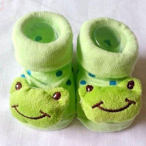 Frosch HuntGold s/ü/ße Baby Kid Kleinkind Neugeborenes 3D Cartoon kurz Sock Slipper Kinder Bootie