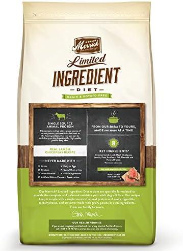 Merrick Dry Dog Food with Vitamins Minerals for All Breeds , 4 lb, Lamb