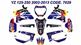 7029 YAMAHA YZ125 YZ250 2002-2013 02-13 DECALS STICKERS GRAPHICS KIT