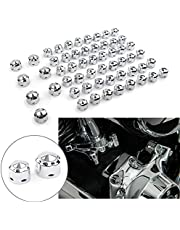 Three T 56 pcs Motorcycle Engine Bolt Toppers Cap Set Engine Bolt Head Covers Kit Fit for Harley -Davidson Touring Softail Models 1999-2017