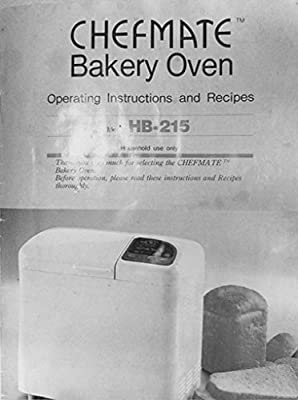 Chefmate Bread Machine Maker Instruction Manual & Recipes
