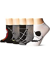 The Nightmare Before Christmas womens Nightmare Before Christmas 5-pack No Show Socks