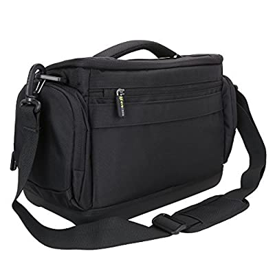Large DSLR Shoulder Bag Evecase Digital SLR Camera Case with Rain cover, Durable Eva Bottom protection, Tablet Compartment for Mirrorless, Full Frame, Compact System, Micro 4/3 Lens Camera from Evecase
