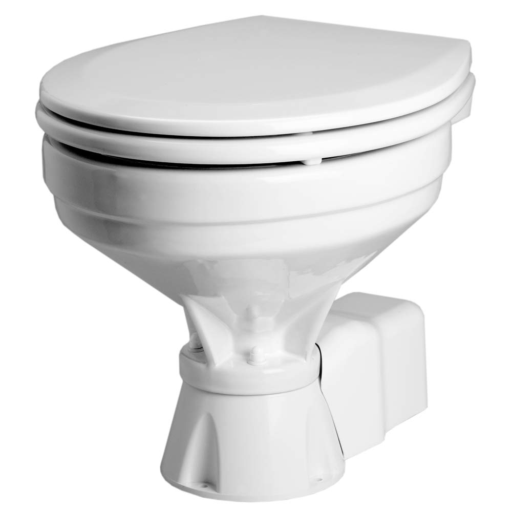 Johnson Pumps 80-47435-01 AquaT Compact Standard Electric Marine Toilet, 12V by Johnson Pumps