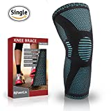 PowerLix Compression Knee Sleeve Best Knee Brace for Meniscus Tear,Arthritis,Quick Recovery etc Knee Support For Running,CrossFit,Basketball and other Sports Single Wrap Small