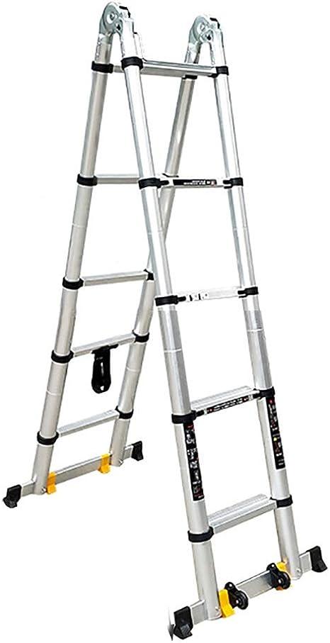 Escalera escamoteable De aluminio telescópica Escalera, 440 Lb ...