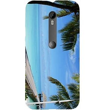 casotec Tropical diseño de playa carcasa rígida para Motorola Moto G Turbo: Amazon.es: Electrónica
