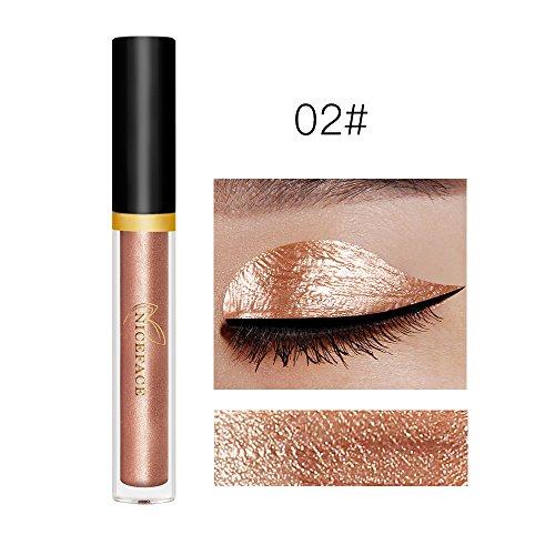 Price comparison product image DZT1968 17 colors portable Metallic Smoky eyeliner Eyeshadow water-tight Glitter Liquid Eyeliner & Eyeshadow Pen (B)