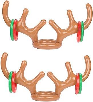 Amazon.com: yexpress Pack de 2 Hinchable Reno Antler Ring ...