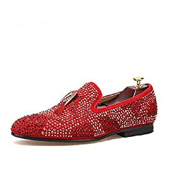 Tassel & Exquisite Crystal Slip-on