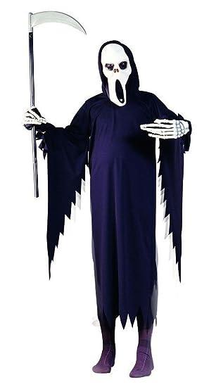 Foxxeo Disfraces de Halloween de la Muerte Reaper para Hombres ...