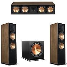 Klipsch 3.1 Walnut System with 2 RF-7 III Floorstanding Speakers, 1 RC-64 III Center Speaker, 1 Klipsch R-115SW Subwoofer