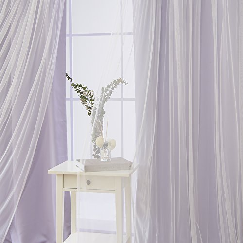 Buy lilac lace kitchen curtains