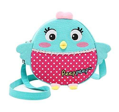 Nette Kind-Schulter-Beutel, Mädchen-Handtasche, [Grün, Küken]