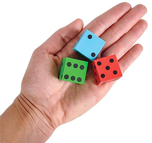 1'' DICE ERASERS, Case of 720