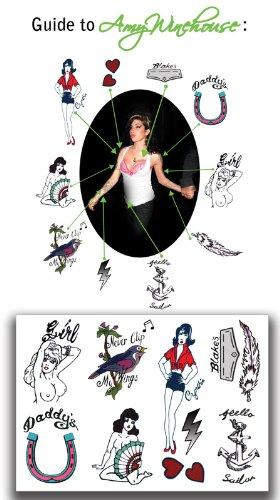 Amy Winehouse Temporary Tattoos P-9039 TattooFun SG/_B007VDI3RQ/_US