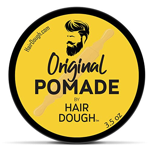 Hair Dough Pomade, Medium Hold and Semi-Matte Shine Styling Product for Men, Water Based/Soluble and Lightly Scented for…