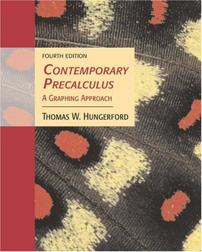 """Contemporary Precalculus: A Graphing Approach (with CD-ROM, BCA/iLrnâ""""¢ Tutorial, and InfoTrac) (Available Titles Cengag"""