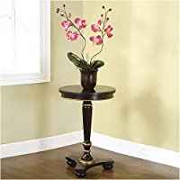Antique Black Decorative Pedestal Table