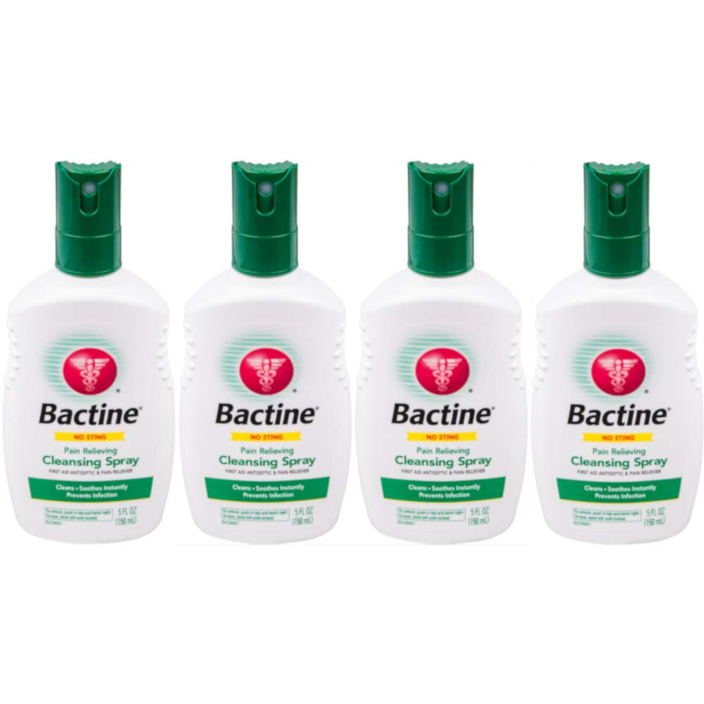 Bactine Original First Aid Spray, 5-Ounce Bottles (Pack of 4) by Bactine