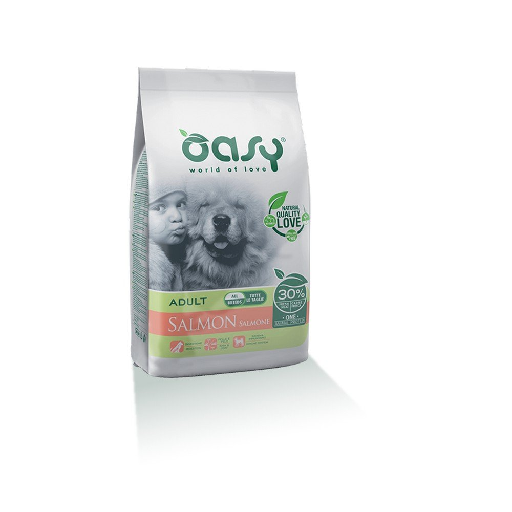 Oasy Dry Dog One – Adult Salmon 2.5 kg. Wonderfood S.p.A.