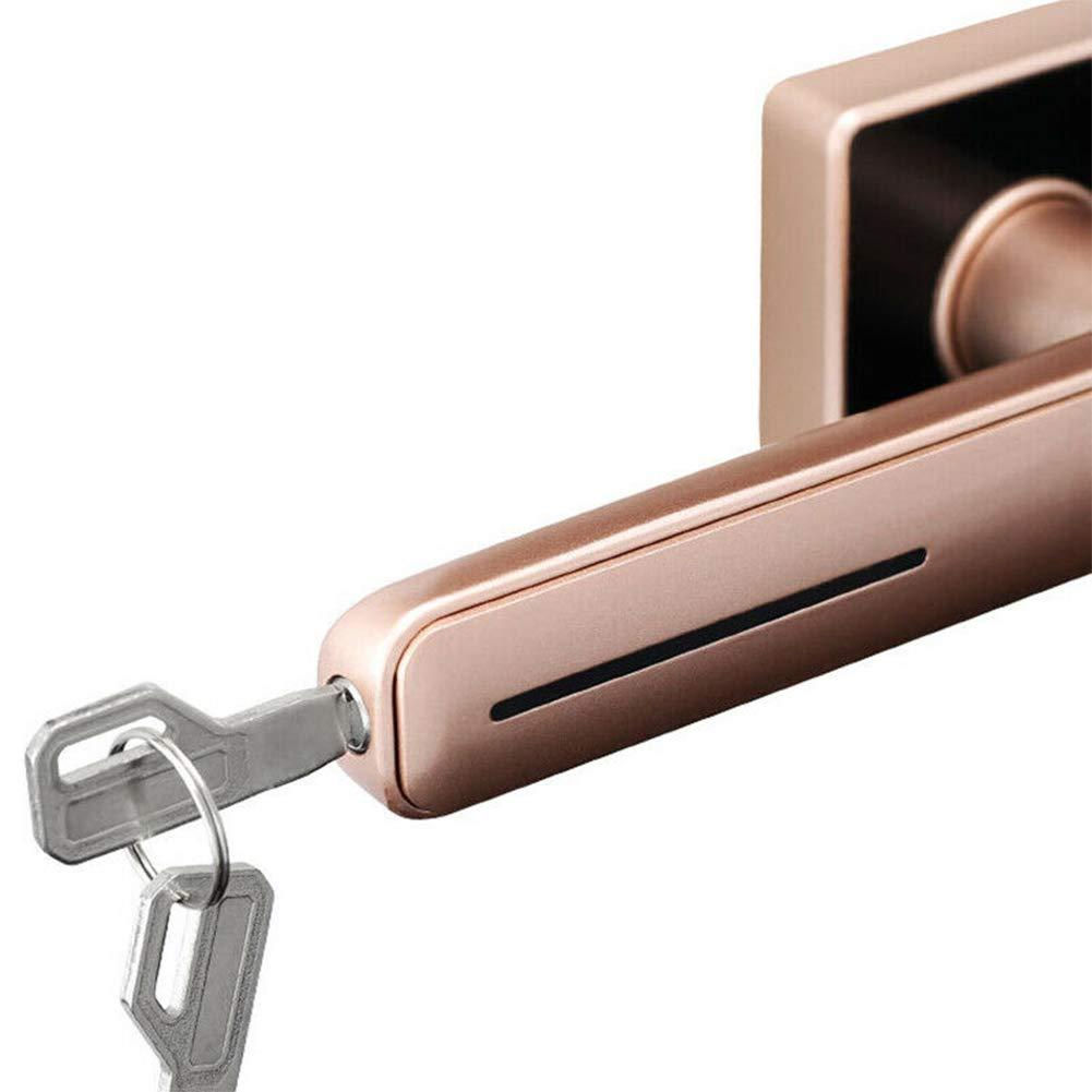 TXYFYP Cerradura De Puerta con Huella Digital,Carga USB Cerradura De Puerta con Palanca De Huella Digital Invisible con 2 Llaves Mec/áNicas Cerradura De Huella Digital para El Hogar