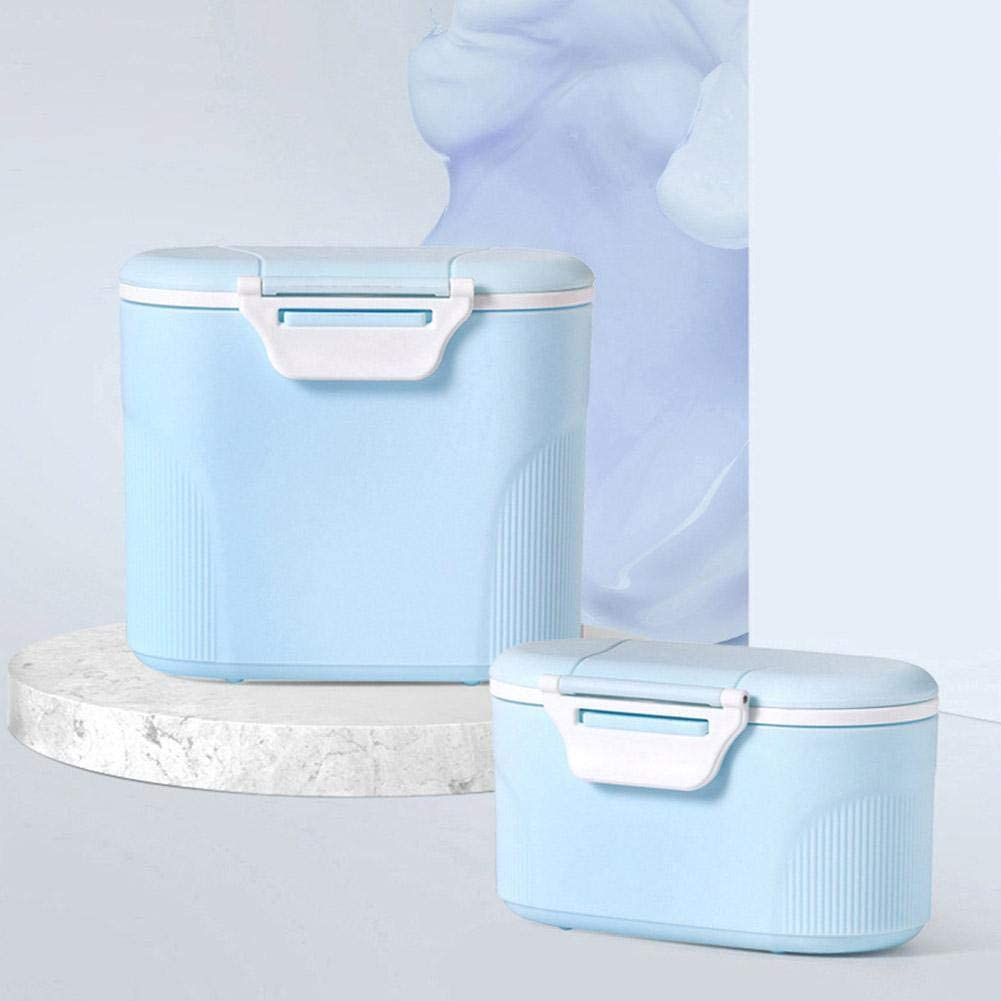 tackjoke Milchpulver Aufbewahrung Baby Unterwegs 600g Aufbewahrungsbox Milchpulverspender Dosierbeh/älter Box U-f/örmiges Schnallendesign F/ür Die /Äu/ßere Handlungen 14x8x12.5CM
