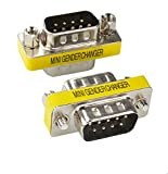 15 pin d breakout - BeElion 2PCS Serial RS232 DB9 Pin Gender Male to Male Adapter,Gender Changer