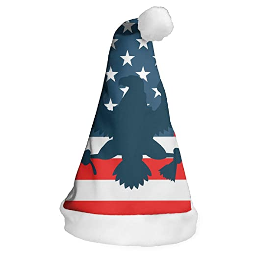 308ee2559d31b Image Unavailable. Image not available for. Color  US Flag Patriotic Eagle  Christmas Santa Hat New Years ...