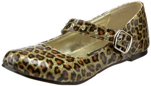 Demonia by Pleaser Women's Daisy-04 Mary-Jane Flat,Gold Pearlized Glitter Patent,11 M (Emily B Halloween Costume)