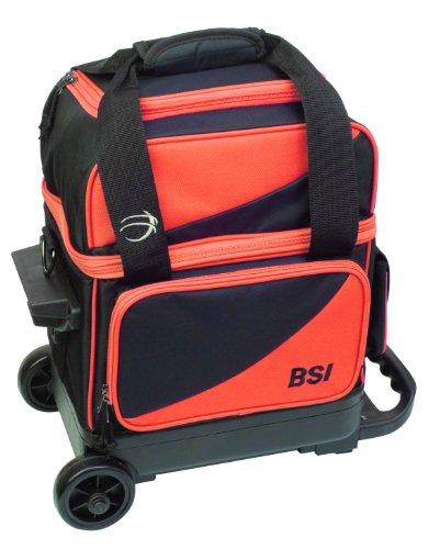 BSI Single Ball Roller Bowling Bag, Black/Orange