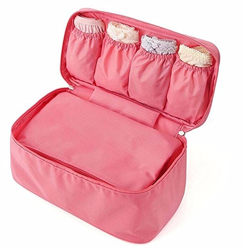 WALLER PAA Women Portable Protect Bra Underwear Lingerie Case Travel Organizer Bag - Miu Uk Store Miu