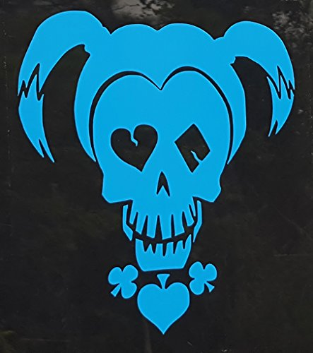 Blue Harley Quinn Skull Girl Car Decal Sticker (cars, laptops, windows) - (Suicide Squad Inspired)]()