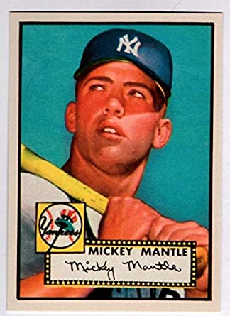 Mickey Mantle 1952 Topps Baseball Rookie Rc Reprint Card New York Yankees Baseball Card